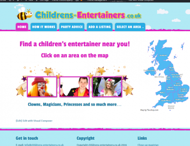 FIND CHILDREN'S ENTERTAINERS