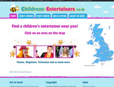 FIND CHILDREN'S ENTERTAINERS